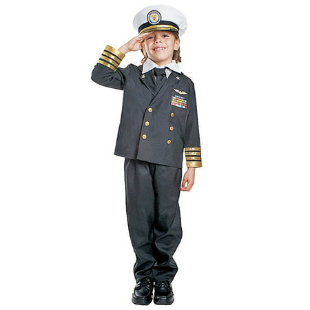 Dress Up America  Boys' 'Navy Admiral' Costume (Navy Seal Costume)