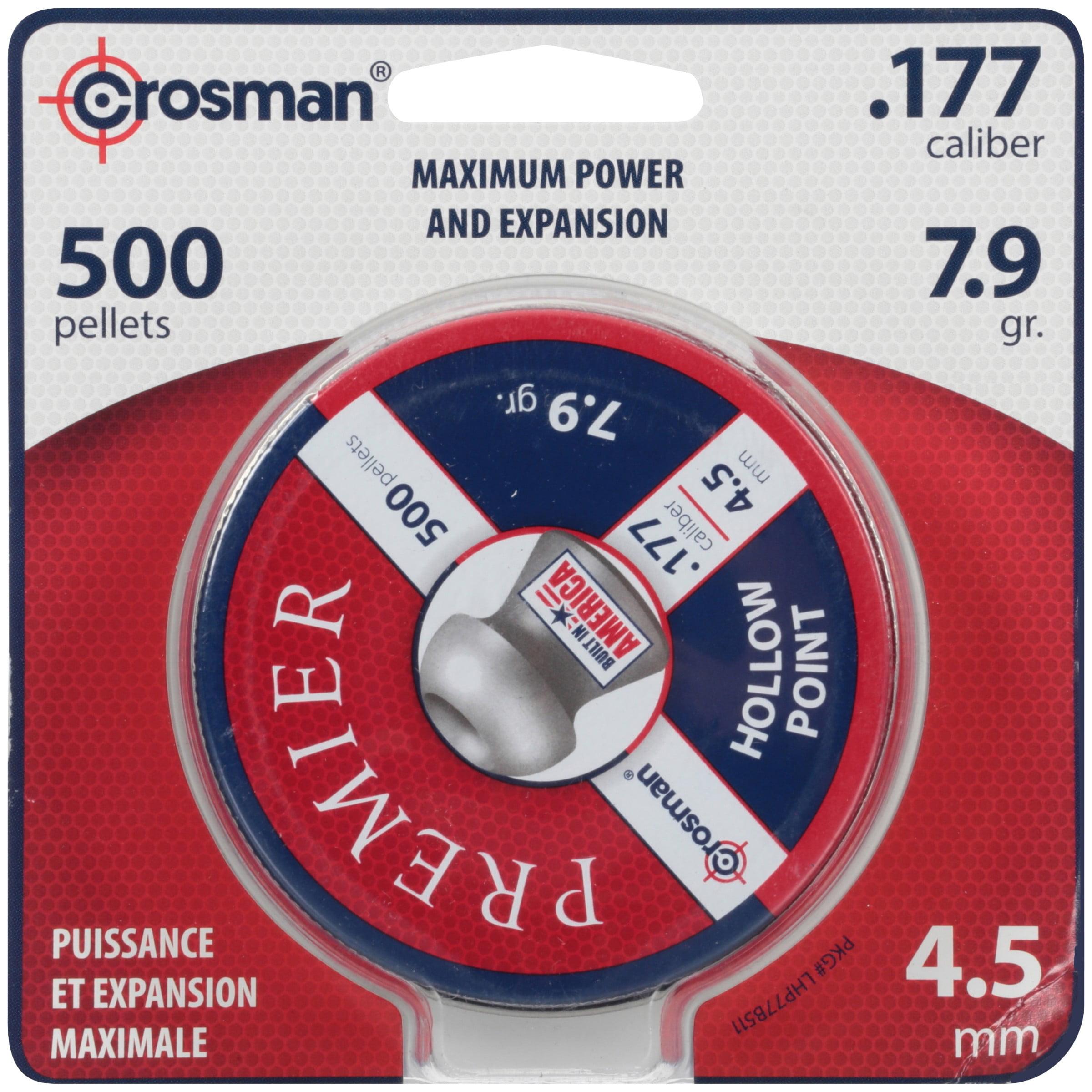 Crosman Premier 177 Caliber Hollow Point Pellets 500ct LHP77 by Crosman