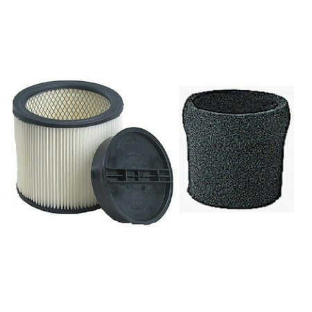 ShopVac Complete Filter Kit- Compare with Shopvac Part# 9030400 HEPA Filter, 3008000 Retaining Ring, & 9058500 Foam Prefilter, Fits most wet/dry.., By (Complete Vac)