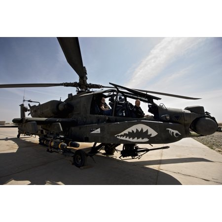 An Ah 64D Apache Longbow Parked At Cob Speicher Tikrit Iraq Poster Print