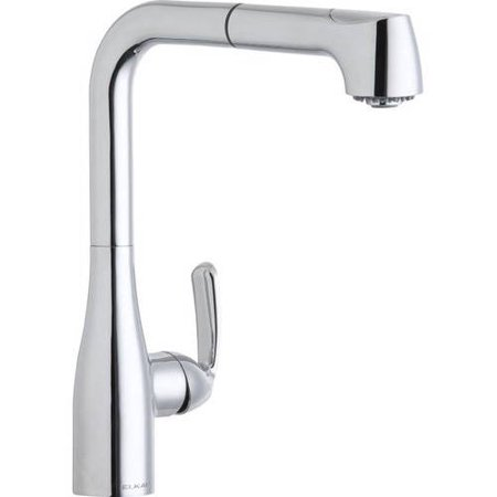 Elkay LKGT2041CR Gourmet Pull-Out Kitchen Single-Hole Faucet, Available in Various Colors ()