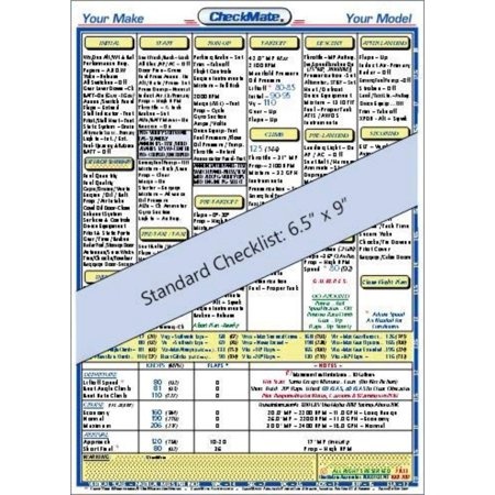 Piper Warrior II,PA-28 161 Standard size CheckMate, The most complete, highly endorsed and recognized aviation checklists in the industry! By Checkmate