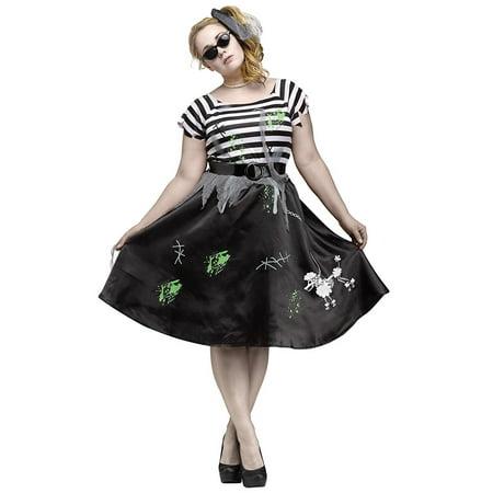 Zombie Sock Hop Adult 50S Costume](50s Sock Hop Costumes)