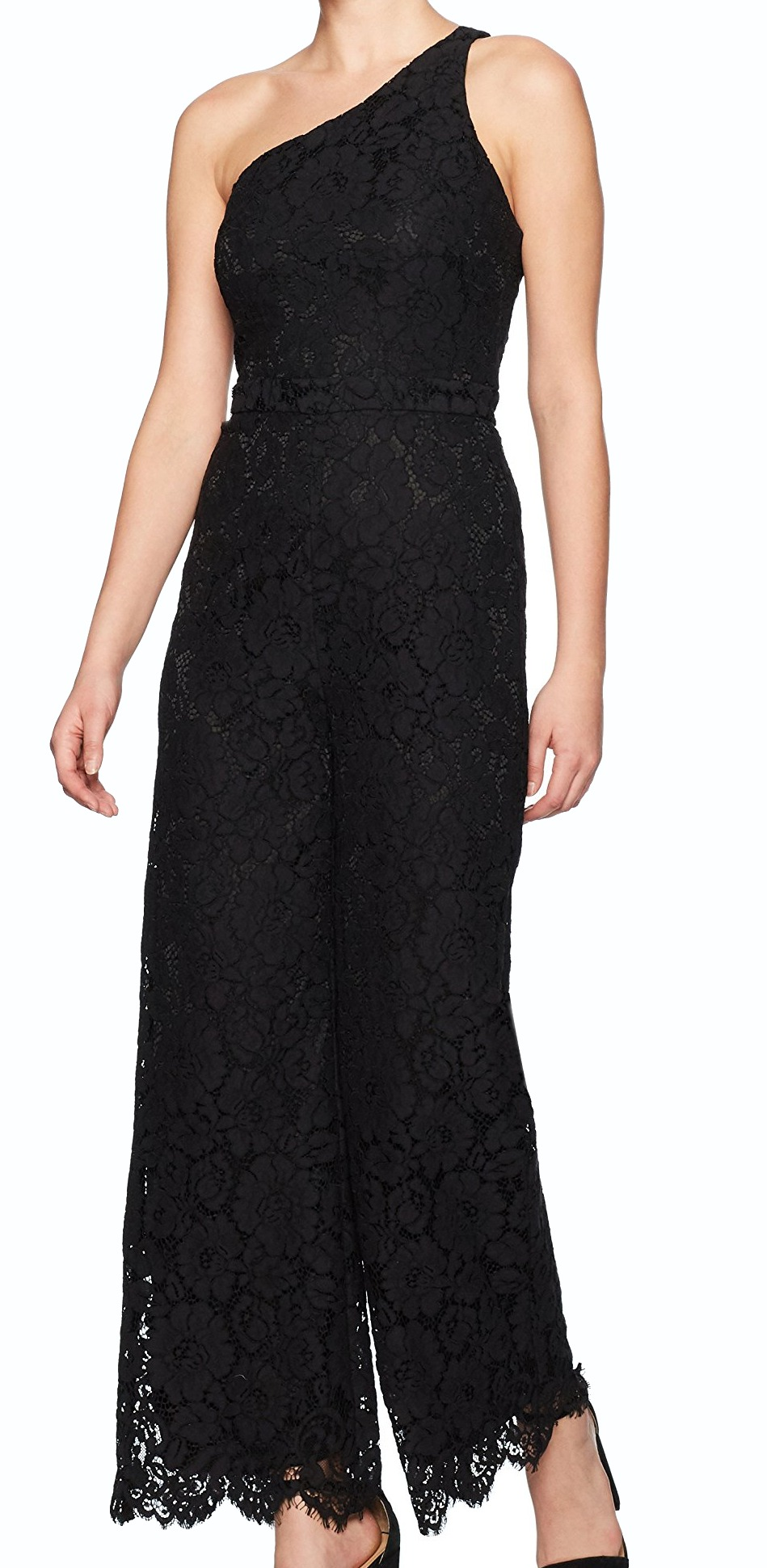 c3d811d480d Laundry by Shelli Segal Women Lace One Shoulder Jumpsuit - Walmart.com