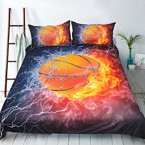 3Pcs//Set 3D Kid Duvet Quilt Cover Bedding Set Star Print Pillow Case Twin Queen