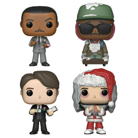 Funko POP! Movies Trading Places Collectors Set - Billy Ray Valentine, Special Agent Orange, Louis Winthorpe III, Santa Louis with Salmon - Santa Pop
