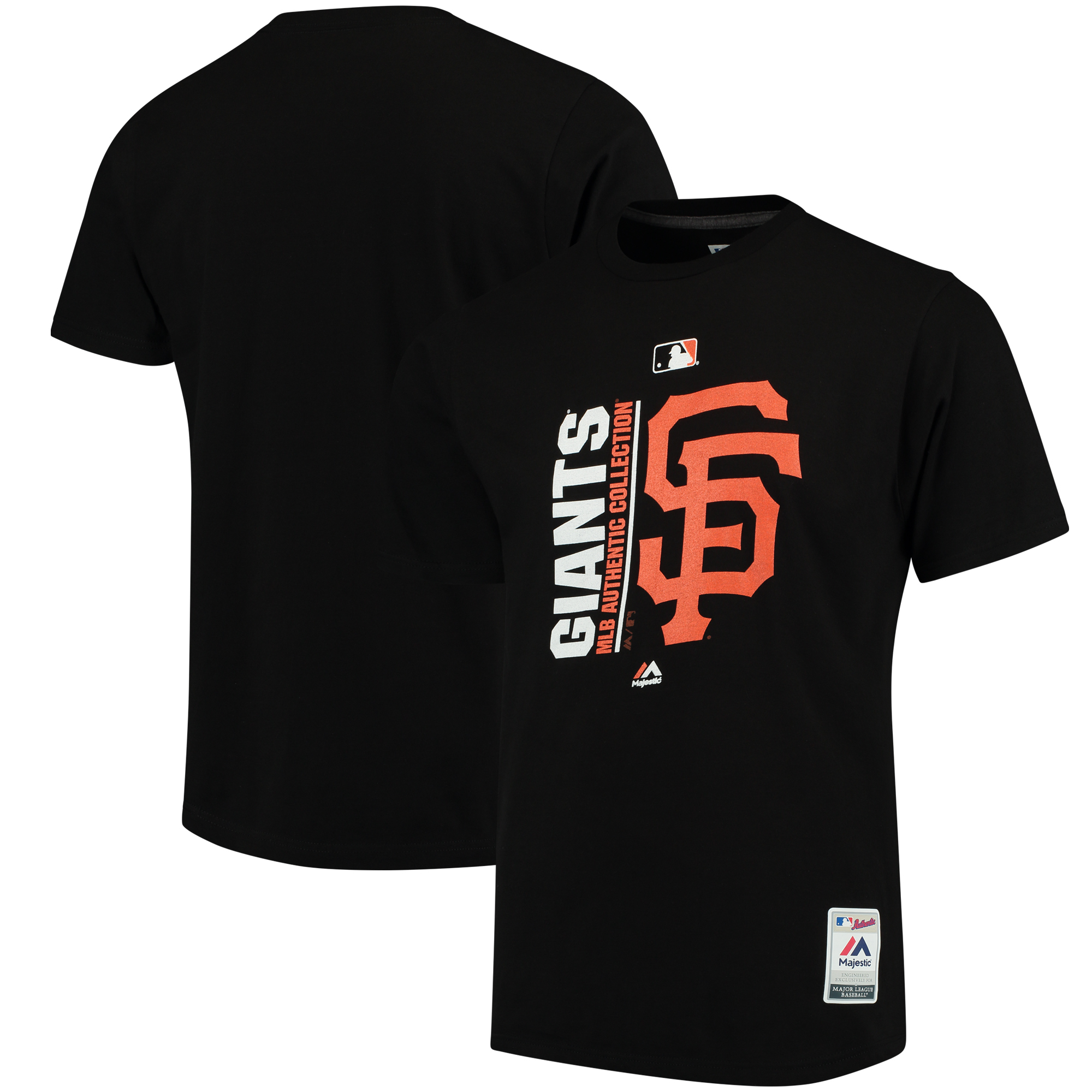 San Francisco Giants Majestic Authentic Collection Team Icon T-Shirt - Black