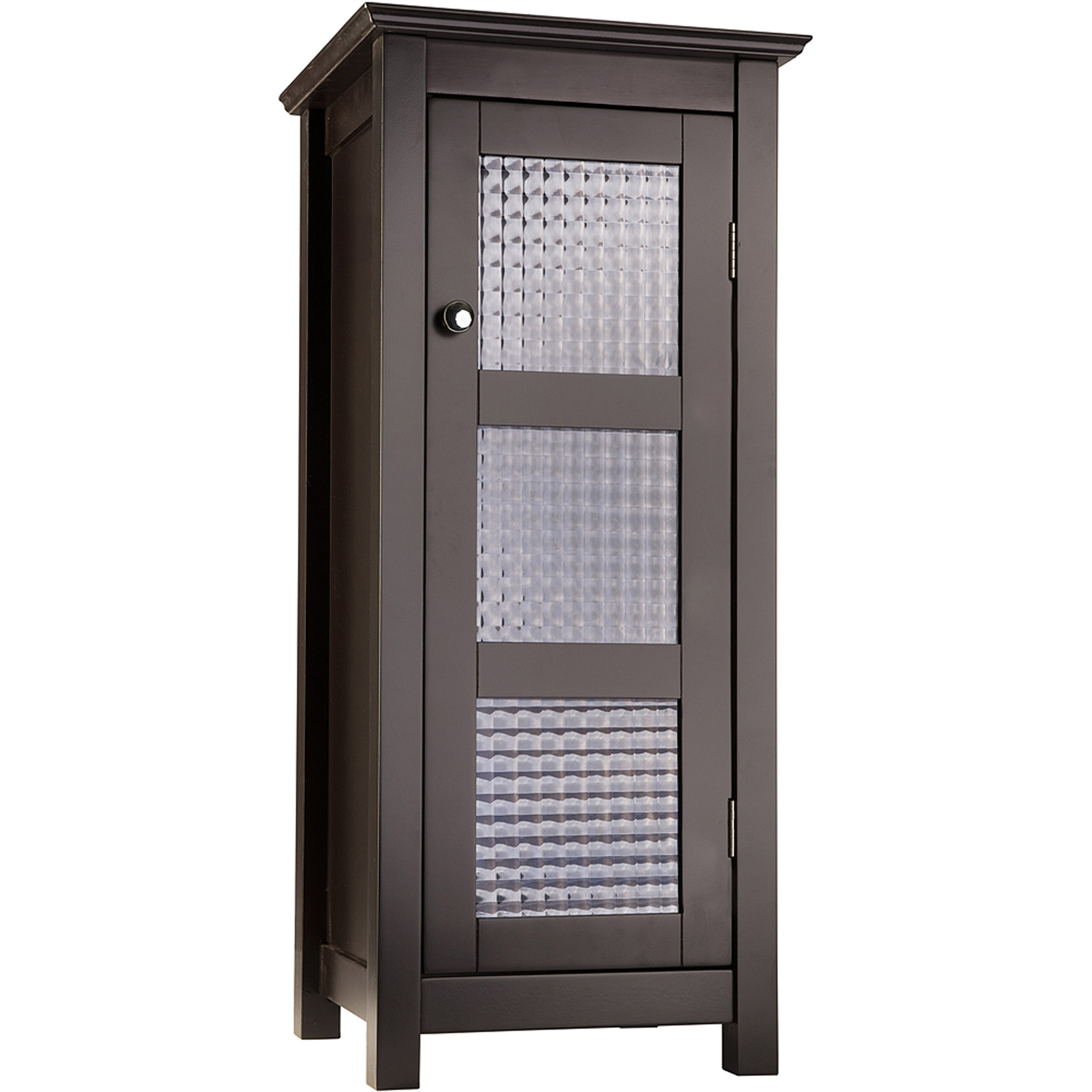 Torino Floor Cabinet With Glass Door Espresso Walmartcom - Espresso bathroom floor cabinet for bathroom decor ideas