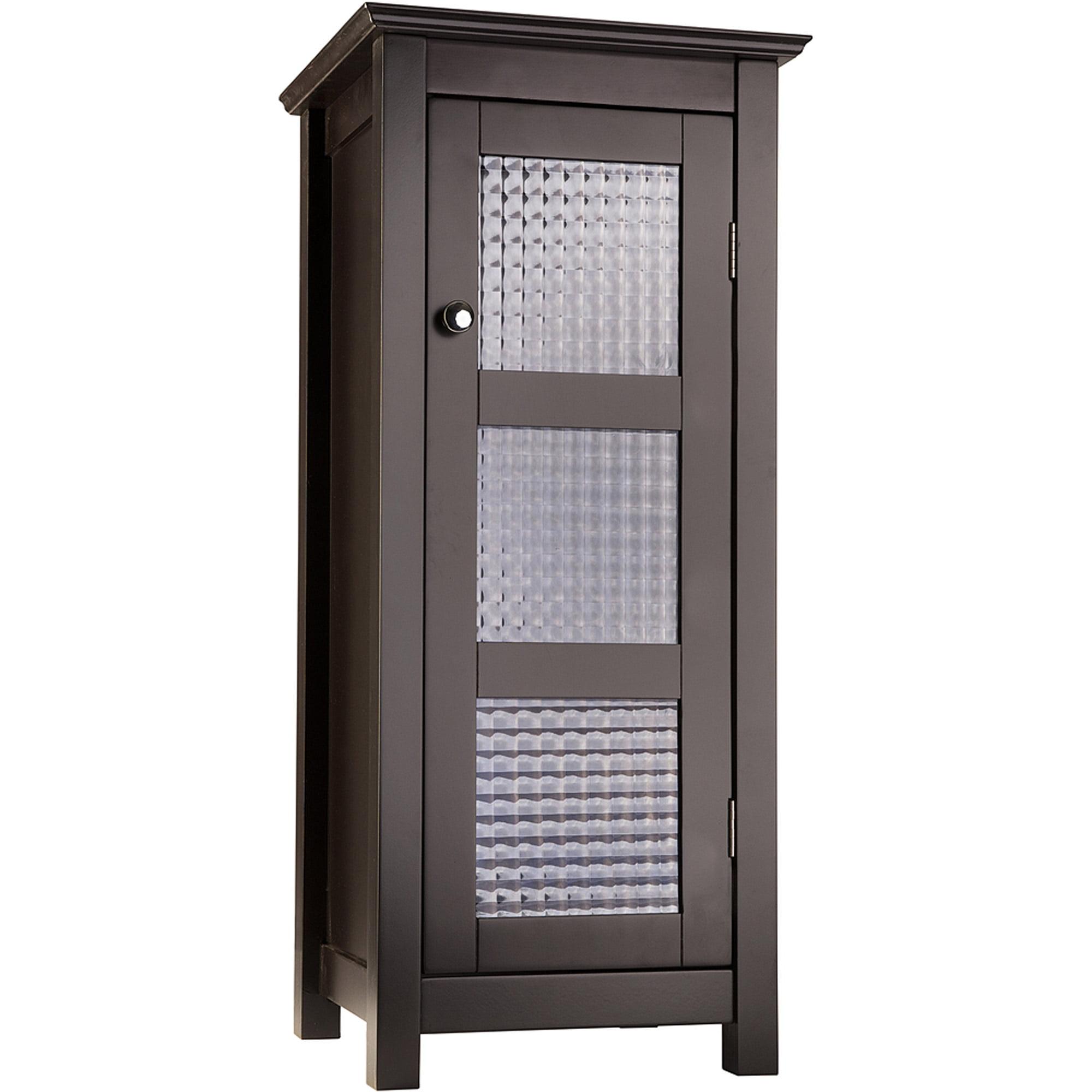 Torino Floor Cabinet With Glass Door Espresso Walmart Com