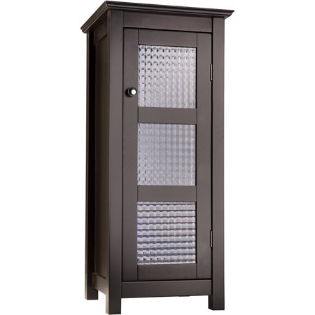 Torino Floor Cabinet With Glass Door Espresso Walmart