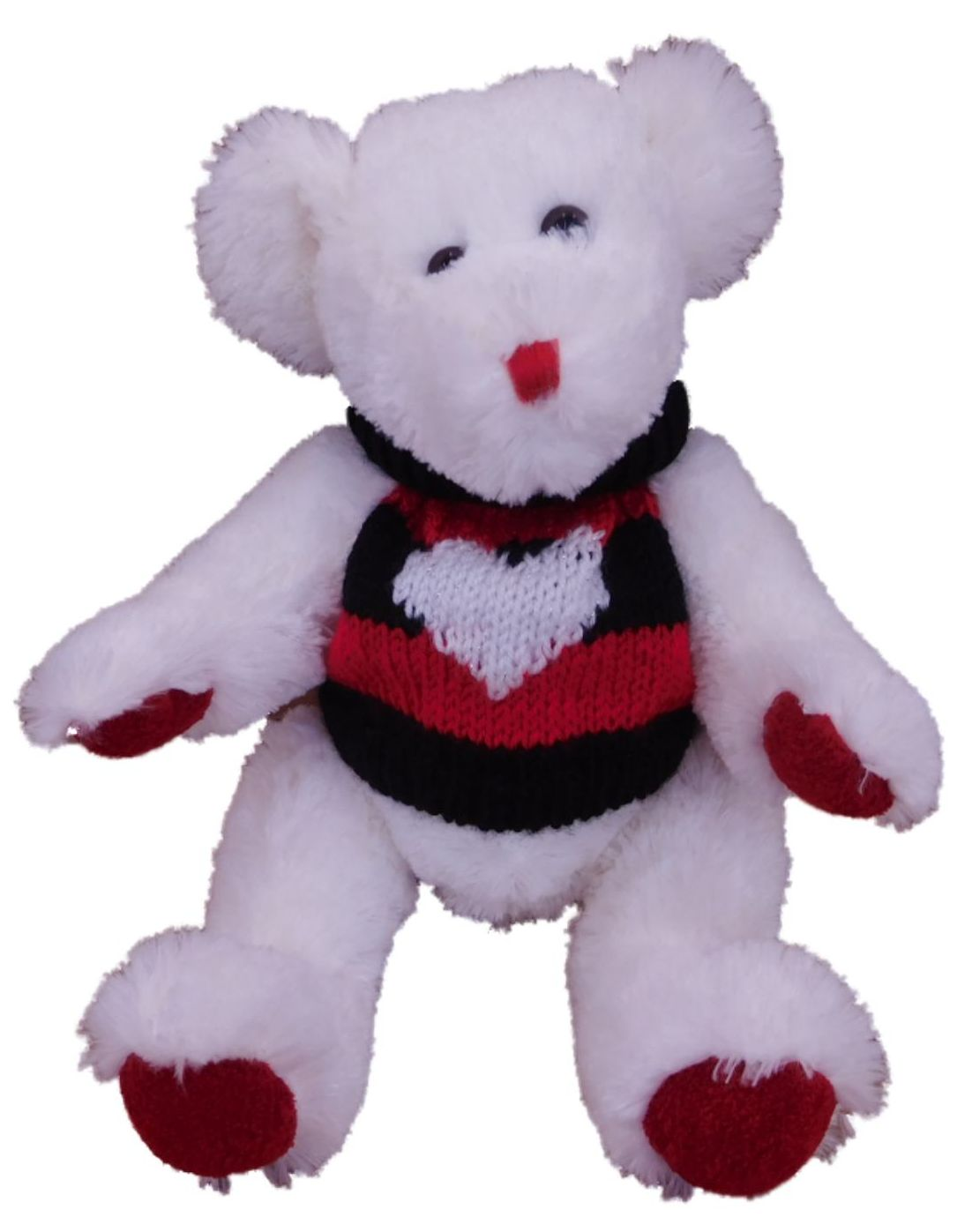 Gifts From The Heart Fuzzy White Teddy Bear Stuffed Animal Valentine Plush Pal by Gifts From The Heart