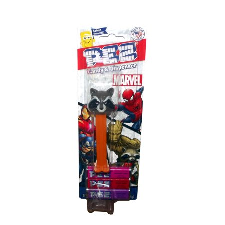 Marvel Guardians Of The Galaxy Rocket Raccoon Pez Dispenser With Candy Pack  1 Count