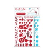 Kati Cupcake LBS Decal Sewing Pack Turquoise&Red