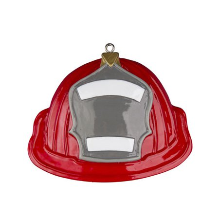 Fireman Fire Fighter Hat Personalized Christmas Ornament DO-IT-YOURSELF (Personalized Firefighter Apparel)