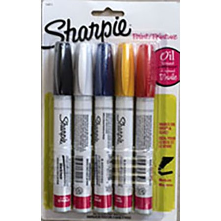 Sharpie Oil-Based Fine Point Paint Markers, 5 Piece