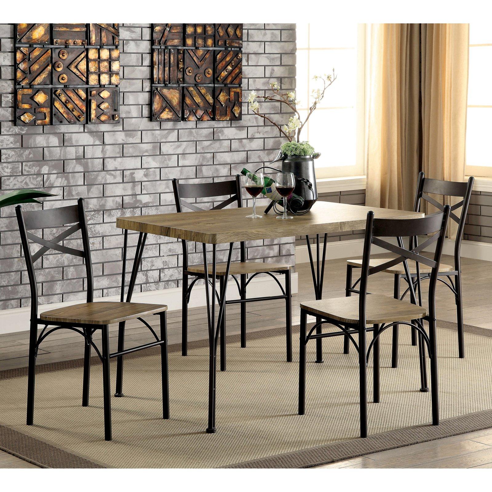 Furniture of America Amonica 5 Piece Casual Dining Set