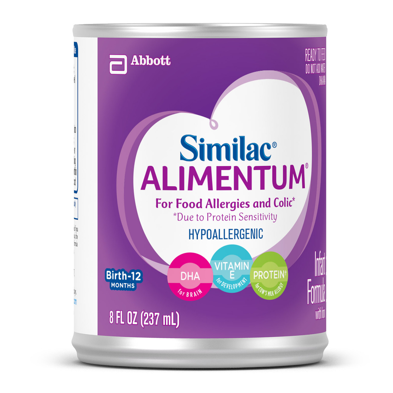 Alimentum Ready To Feed 2 Oz similac alimentum hypoallergenic infant formula (24 count) for food  allergies and colic, baby formula, ready-to-feed, 8 fl oz