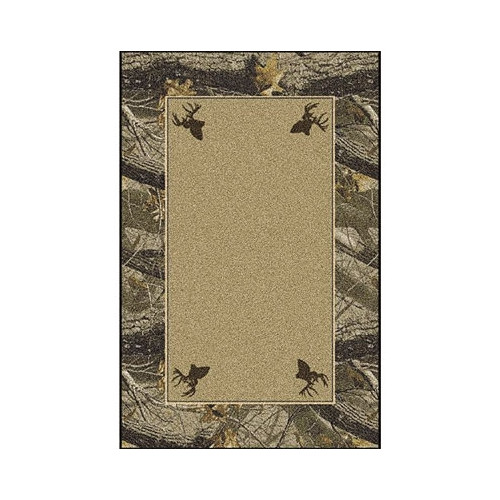 Milliken Realtree Hardwoods Solid Center Area Rug