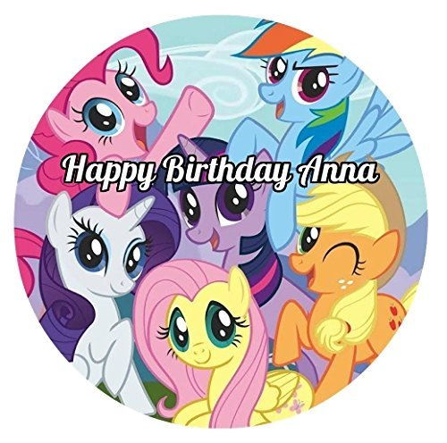 My Little Pony Round Edible Image Photo Cake Topper Sheet Personalized Custom Customized Birthday Party - 8 Inches Round - 76673