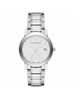 Burberry Men BU9000 Round Dial Stainless Silver Band Date Watch