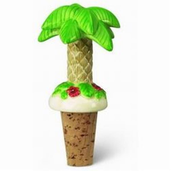Tropical Palm Tree Wine Cork Bottle Topper