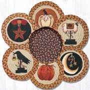 "Earth Rugs TNB-1121 Autumn Trivets in a Basket 10"" x 10"""
