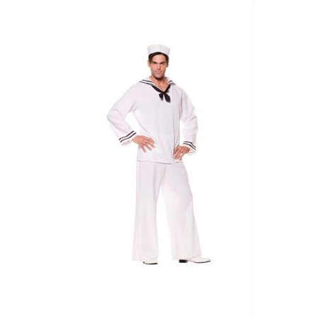 Costumes For All Occasions Ur29066 Sailor Shirt White Male Os (Sailor Male Costume)