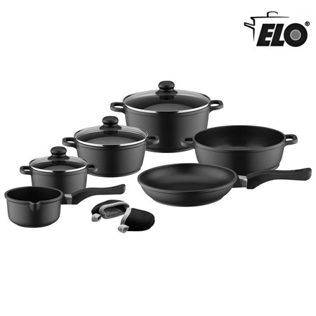 Elo Black Die Cast Aluminum Kitchen Cookware Pots And Pans