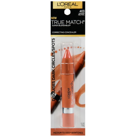 L'Oreal Paris True Match Super Blendable Color Correcting Concealer Orange Neutral, 0.1