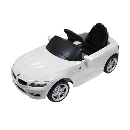 Bmw Z4 Kids 6V Electric Ride On Toy Car W  Parent Remote Control   White