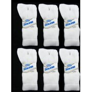6 Pairs Diabetic Crew Circulatory Socks Health Support Mens Loose Fit Size 10-13