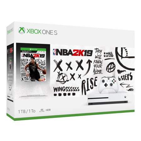 Microsoft Xbox One S 1TB NBA 2K19 Bundle, White, (Best Xbox One Deals 2019)