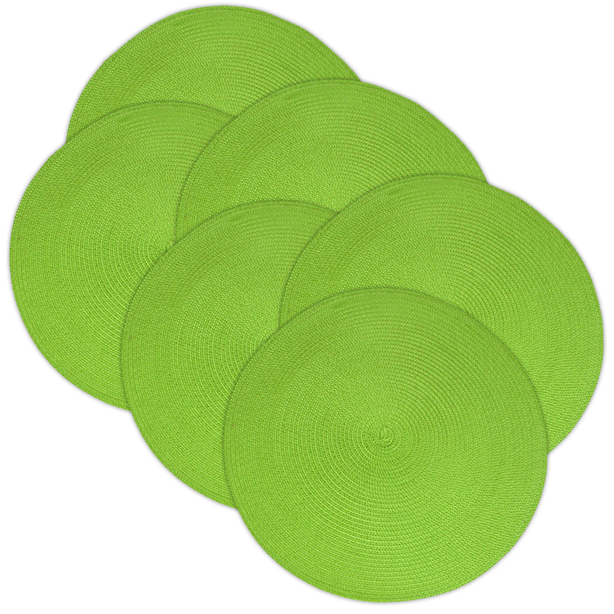 Click here to buy Design Imports Lime Zest Indoor Outdoor Placemat Set of 6 by Supplier Generic.