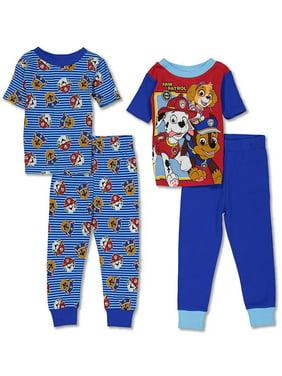Nickelodeon Boys' Paw Patrol 4-Piece Cotton Pajama Set