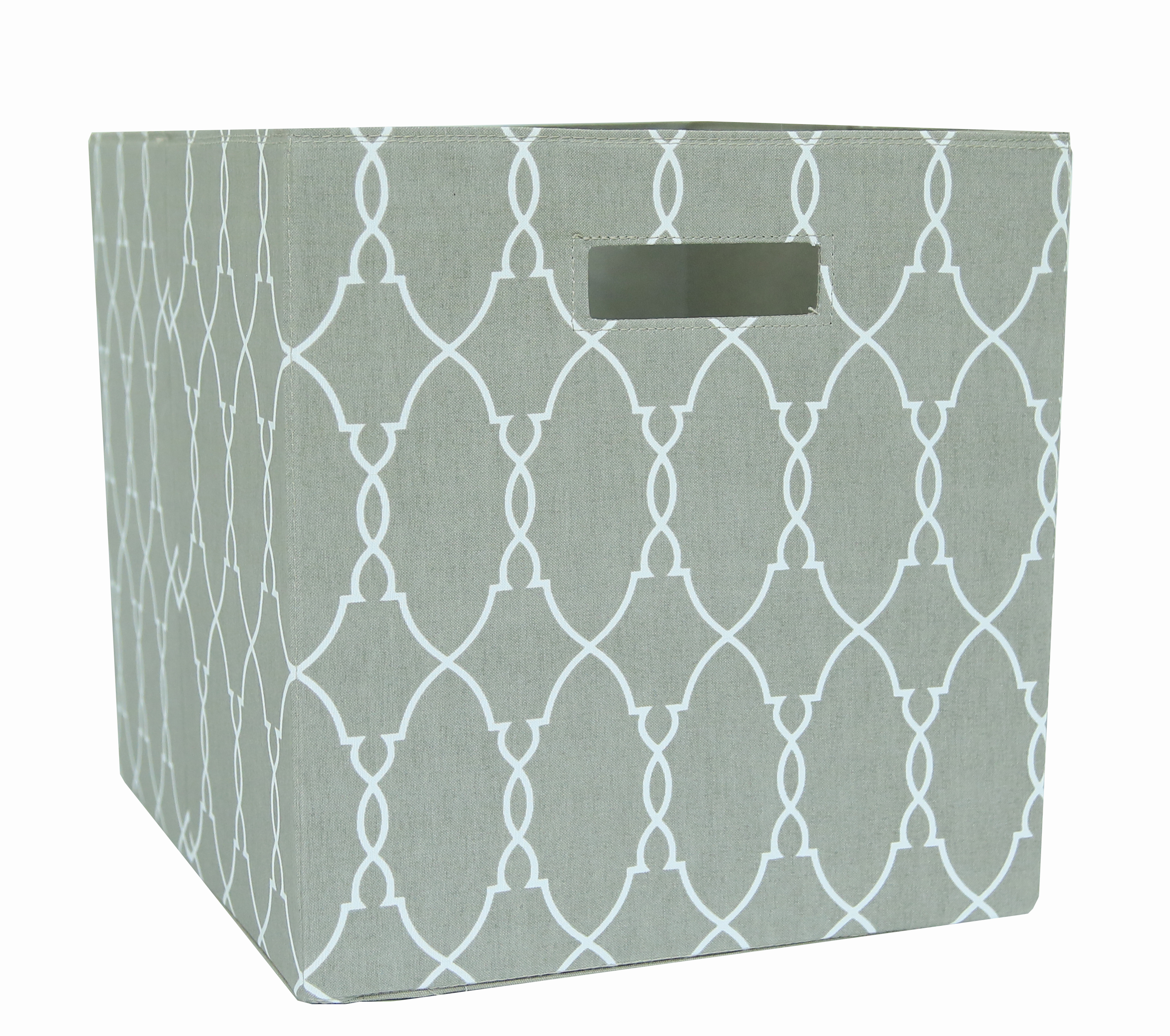 Better Homes and Gardens Collapsible Storage Bin, Taupe Trellis ...