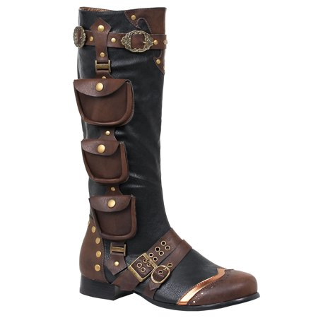 121-AMOS, 1'' Heel Knee High Mens Boots (Ellie Boots)