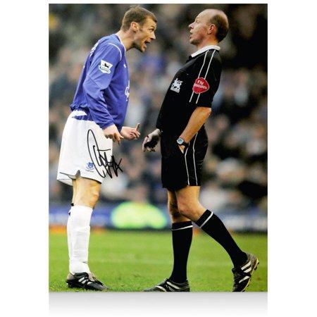 Duncan Ferguson Everton Autographed 12