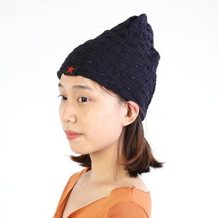 Hilitand Spring Autumn Hat New Fashion Caps Knit Hats for Women Men Thin Bonnet Cap Hip-hop Navy Blue](Bonnets For Sale)