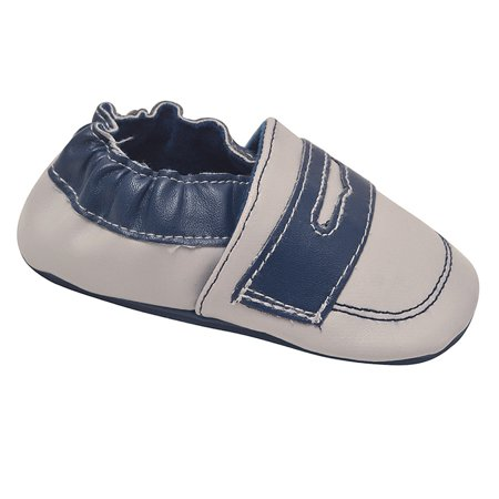 juDanzy Unisex Blue Gray Penny Loafer Trim Classic Casual Shoes ()