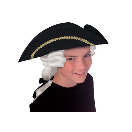 HAT-CHILD-COLONIAL WITH WIG (Best Wig With Bows)