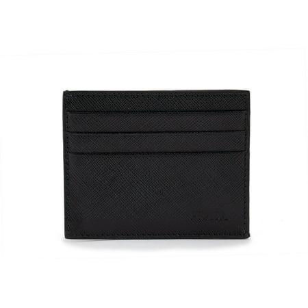 Prada Black Saffiano Leather Card Holder 2MC223 053 F0002 ()