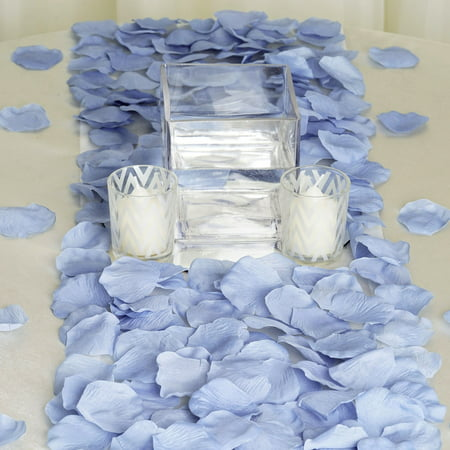 BalsaCircle 500 Silk Rose Petals - Wedding Ceremony Flower Scatter Tables Decorations Bulk Supplies Wholesale - Turquoise And Black Wedding
