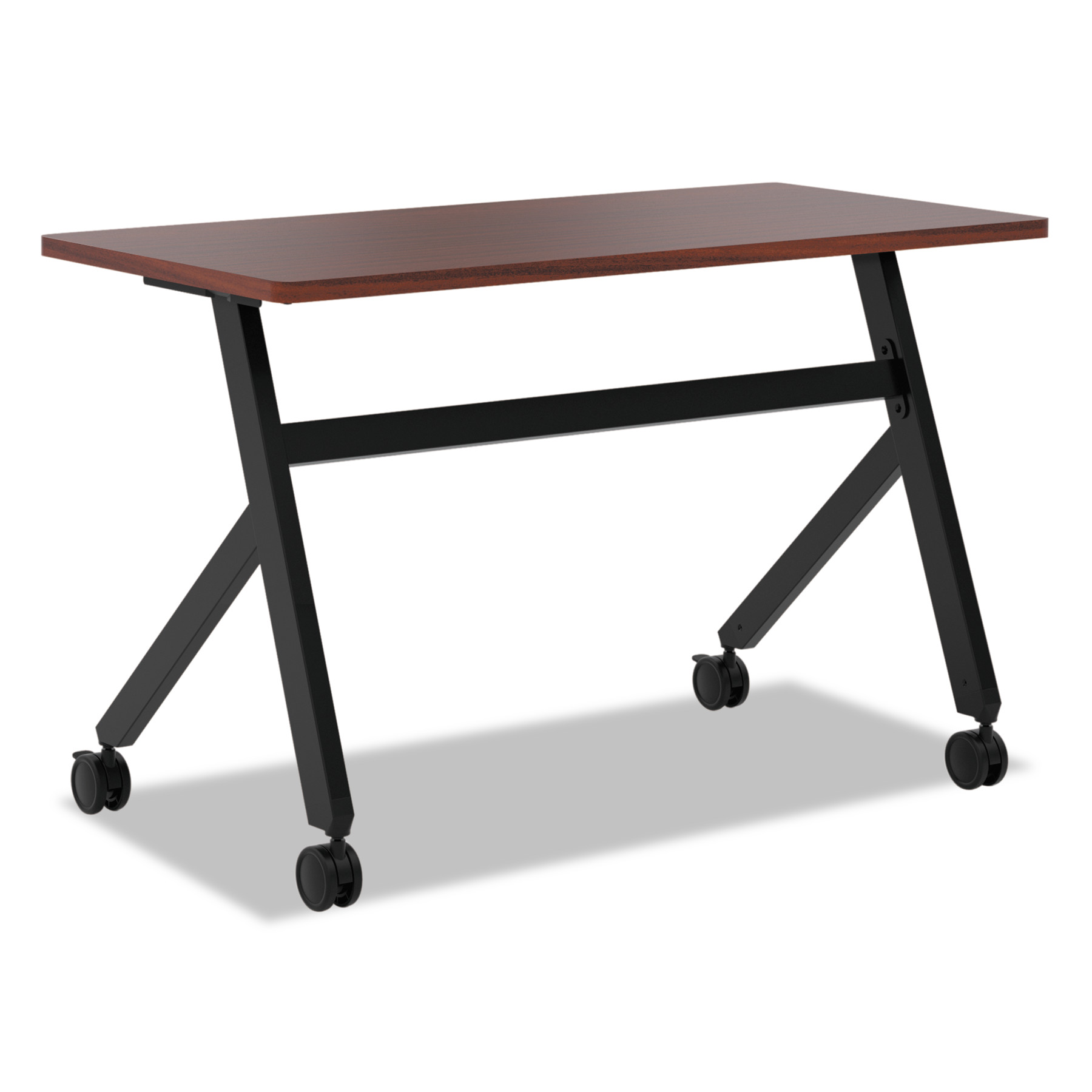 basyx Multipurpose Table Fixed Base Table, 48w x 24d x 29 3/8h, Chestnut