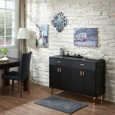 Golden Buffet (Furniture of America Mason Contemporary Black Buffet by FOA )