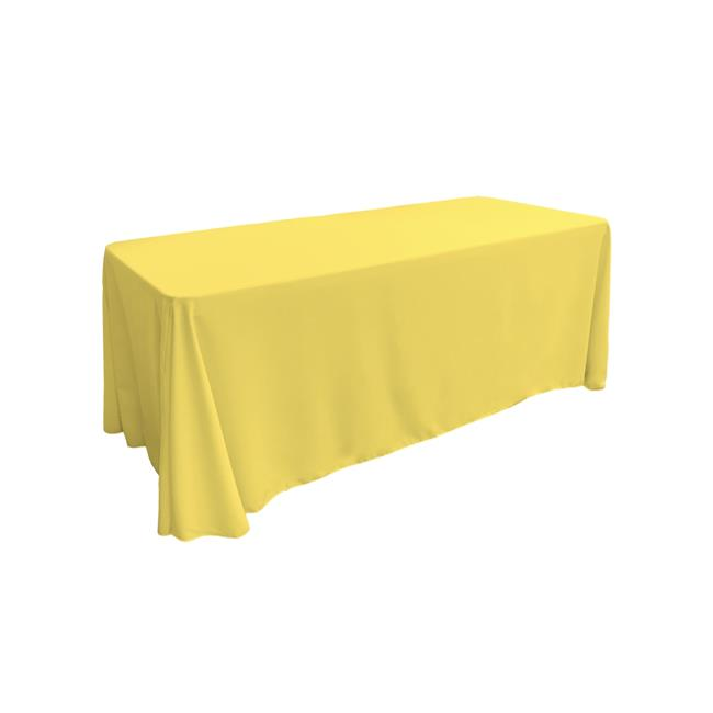 LA Linen TCpop90x156-YellowLgtP99 Polyester Poplin Rectangular Tablecloth, Light Yellow 90... by LA Linen