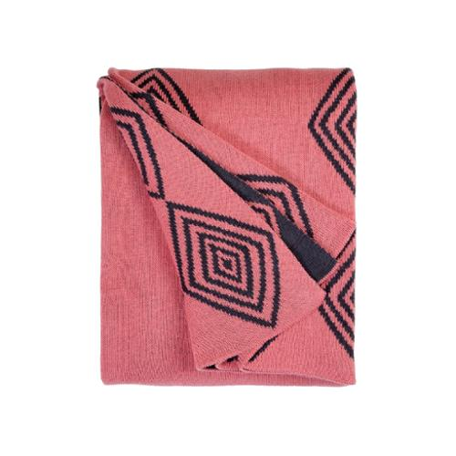 Fab Habitat Handmade Ashmont Pink Throw (India)