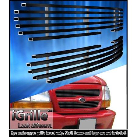Fits 1998-2000 Ford Ranger Black Biller Grille Grill Insert for 2WD