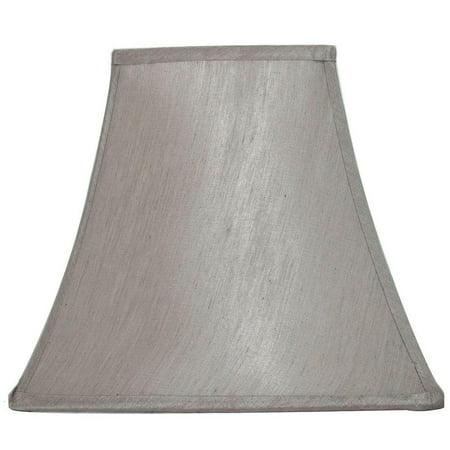 Hampton Bay Mix And Match Bavarian Grey Square Bell Table Lamp Shade