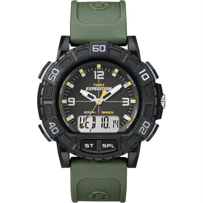 T49967 Timex Expedition Double Shock Combo Watch - Black-Green