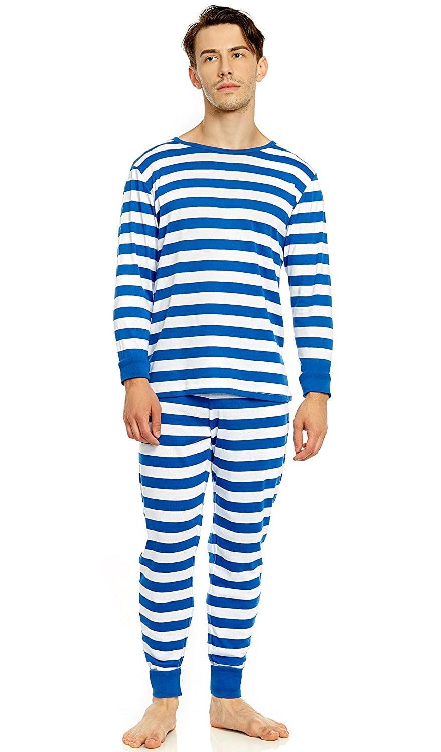 Leveret Men/'s Apple Fitted Pajama Set 100/% Organic Cotton Size XS-XL